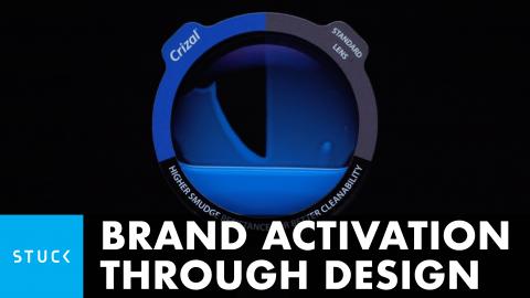 Brand activation through design — Crizal's lens performance made visible through design